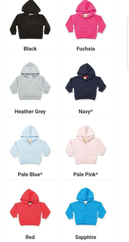 Create Your Own Baby/Toddler Hoodie
