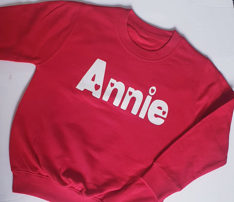 Simple Name Heart Sweater