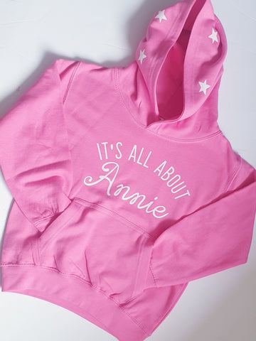 'It's all about' hoodie