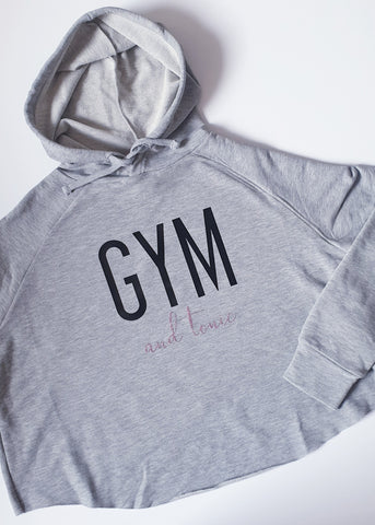 Gym & Tonic Cross back hoodie