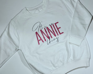 Its a name thing sweater