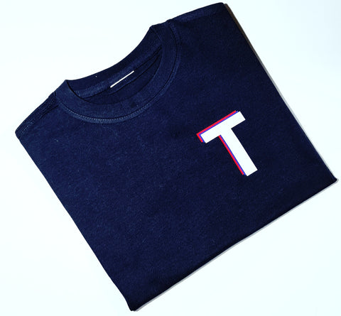 Layered initial tee