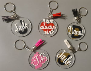 Personalised Disc Keyring