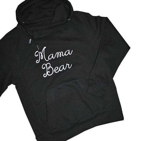 Mama Bear Cross Neck Hoodie