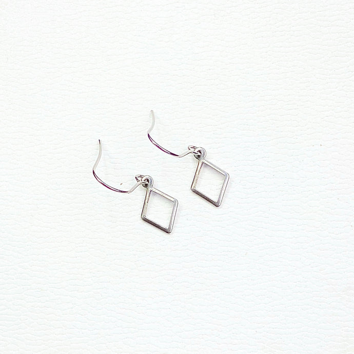 Diamond Earrings Earring Delicate drop earrings Stainless steel  Silver colour  Earring backs included