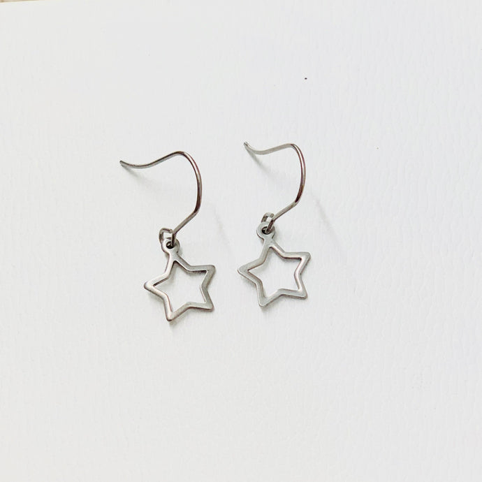 Silver Star Earrings Earring