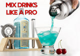 Mixology Bartender Kit with Stand and Bar Tools for Drink Mixing
