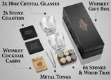 Whiskey Stones Gift Set for Men and Women with a Classy Gift Box
