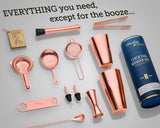 11-piece Cocktail Shaker Set with Weighted Boston Shaker and Bar Tool (Copper)