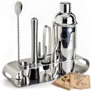 Mixology Bartender Kit with Elegant Stainless Steel Stand