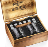 Whiskey Stones Gift Set for Men and Women with Wooden Box and Old Fashioned Glasses