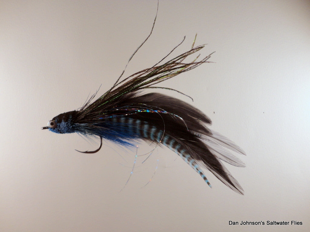 Flat Nose Andino Deceiver - Blue Grizzly Black, Hackle AD205GR