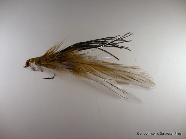 Flat Nose Andino Deceiver - Olive White, Hackle AD207A