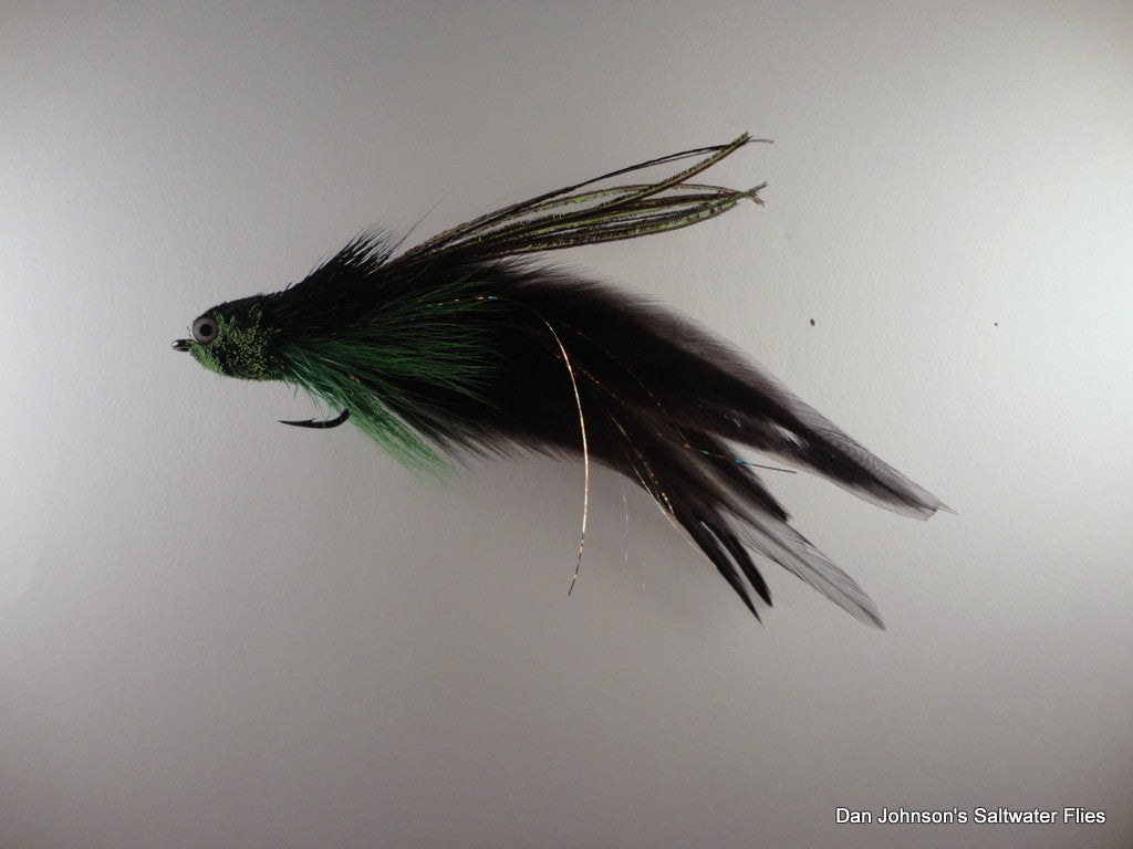 Flat Nose Andino Deceiver - Green Black, Hackle  AD209