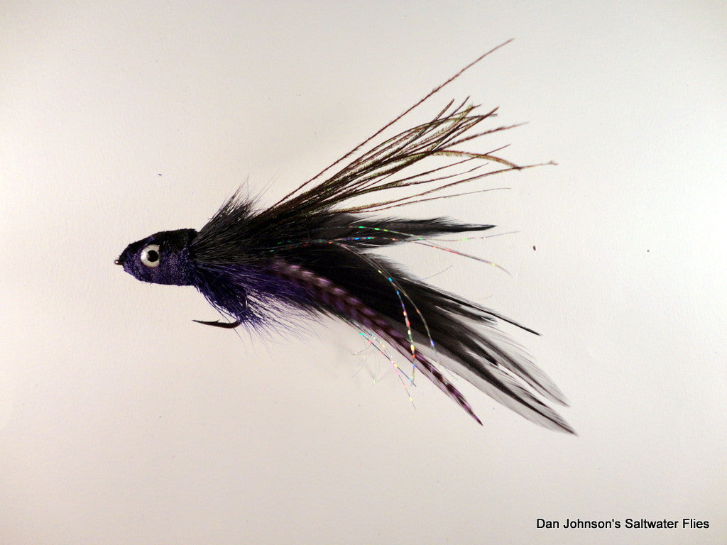 Andino Deceiver - Purple Grizzly Black, Hackle IF160GR