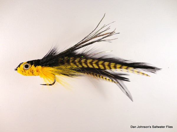 Andino Deceiver - Yellow Grizzly Black, Hackle  IF159GR