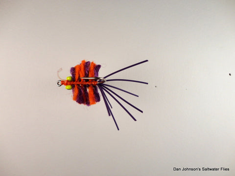 Fleeing Crab - Orange Purple  CB013B