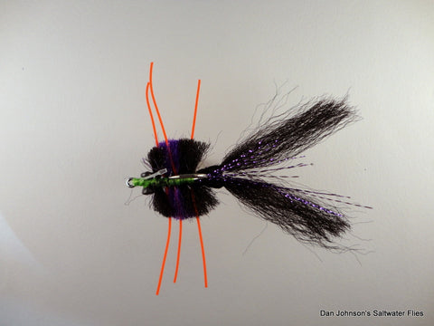 Knotted Leg Fiber Crab - Purple Black  CB035