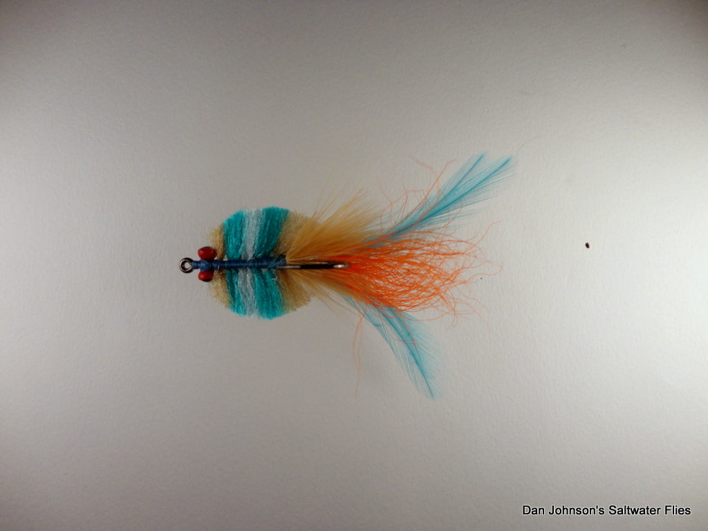 Louisiana Redfish Crab Tan Blue Orange CB036