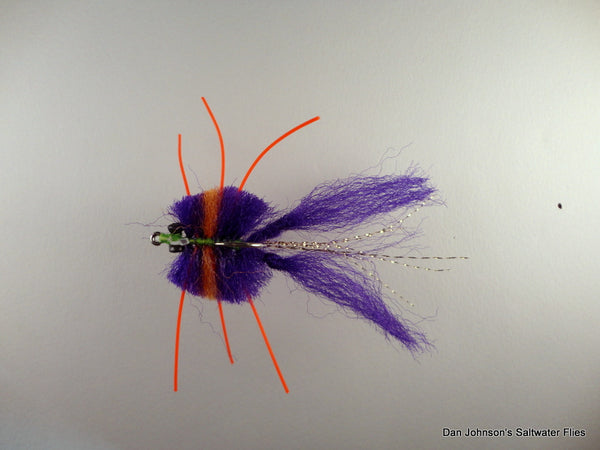 Knotted Leg Fiber Crab - Purple Orange  CB036