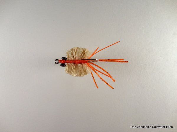 Fleeing Crab - Tan Cream Orange  CB013A