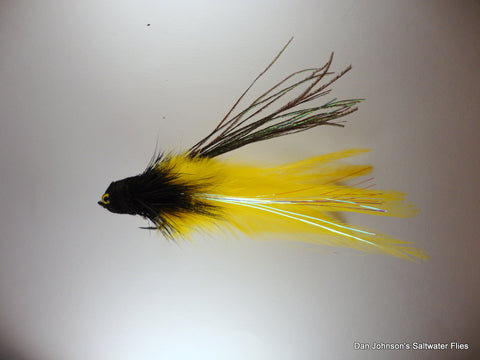 Andino Deceiver - Black Yellow, Hackle  IF015E