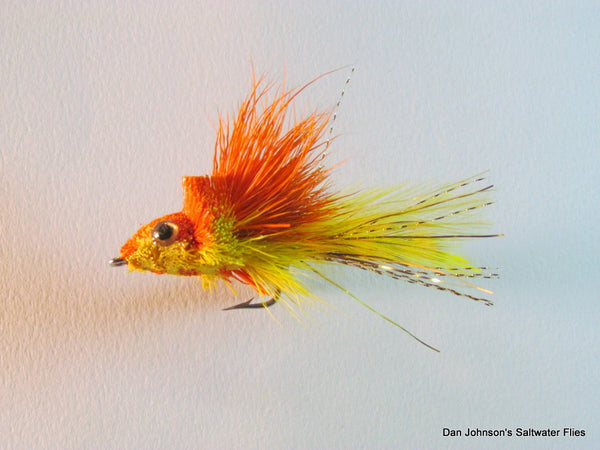 Deerhair Diver - Orange Yellow GS014C