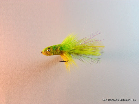 Deerhair Slider- Chartreuse Yellow   GS010C
