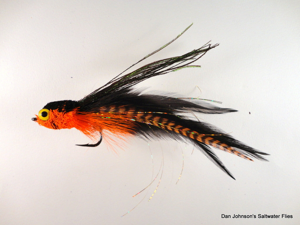 Flat Nose Andino Deceiver - Orange Grizzly Black, Hackle  IF513GR
