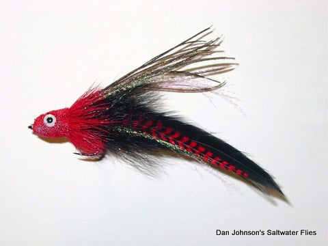 Andino Deceiver - Red Grizzly Black, Hackle IF006GR