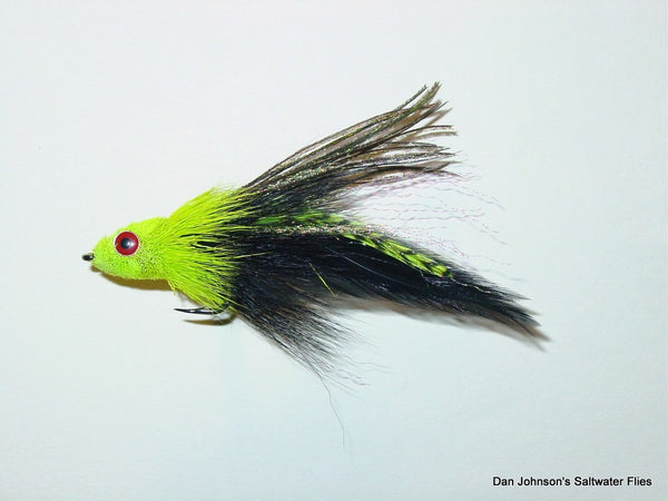 Andino Deceiver - Chartreuse Grizzly Black, Hackle  IF008GR