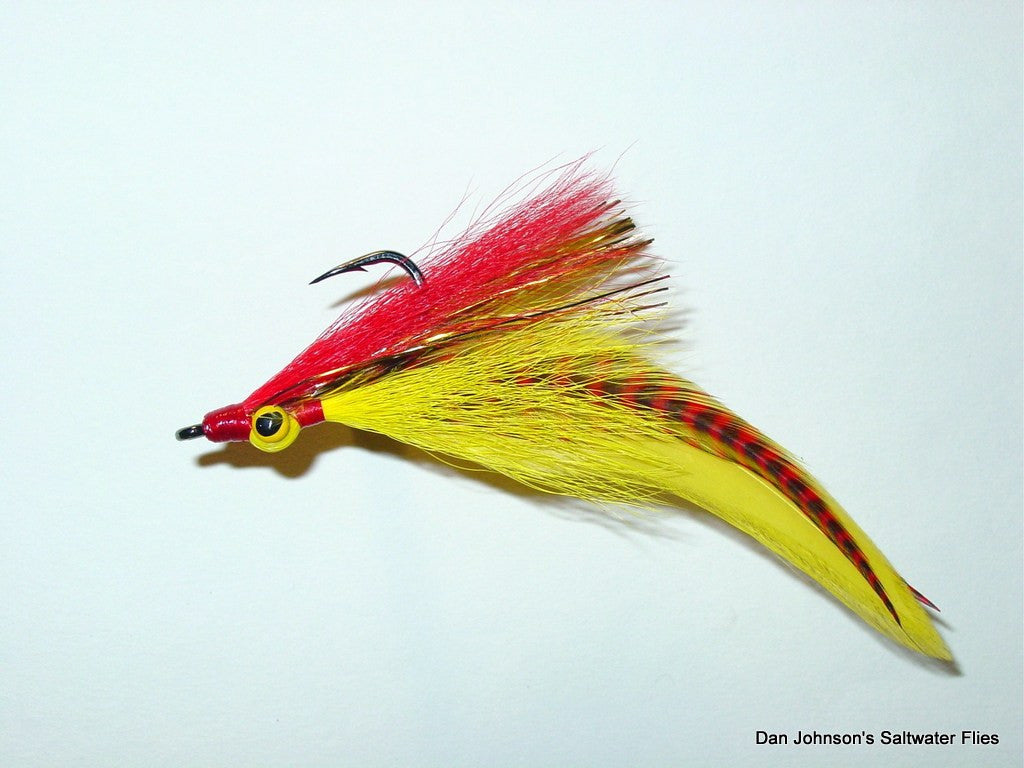 Peacock Bass DeClouser - Red Yellow  IF033