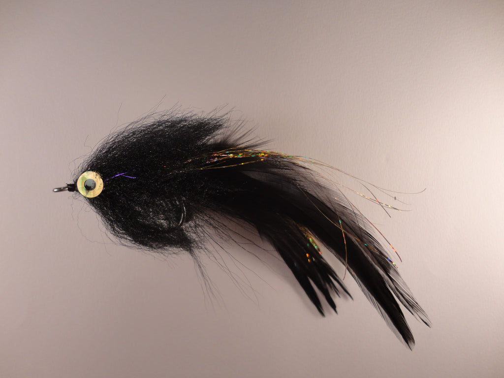 Brush Fly - Black Gold - Hackle  IF068D