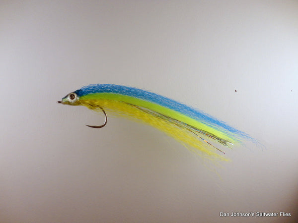 Ultrahair Baitfish  Blue Chartreuse Yellow IF076B