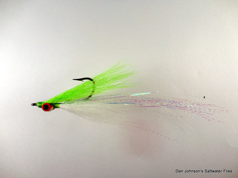 Flashtail Clouser - Chartreuse White IF105