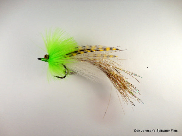 Flashtail Whistler -Chartreuse White Gold IF123