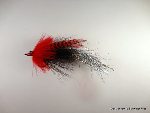Flashtail Whistler - Red Black Silver IF124