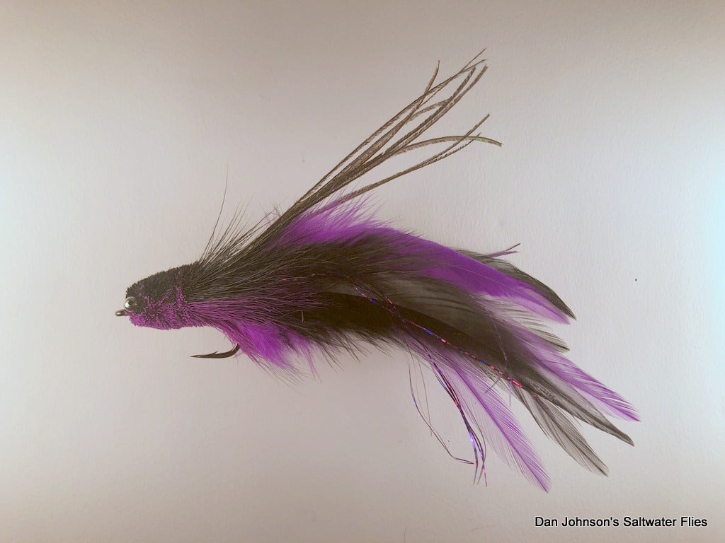 Andino Deceiver - Purple Black, Bead Chain, Hackle  IF132BC