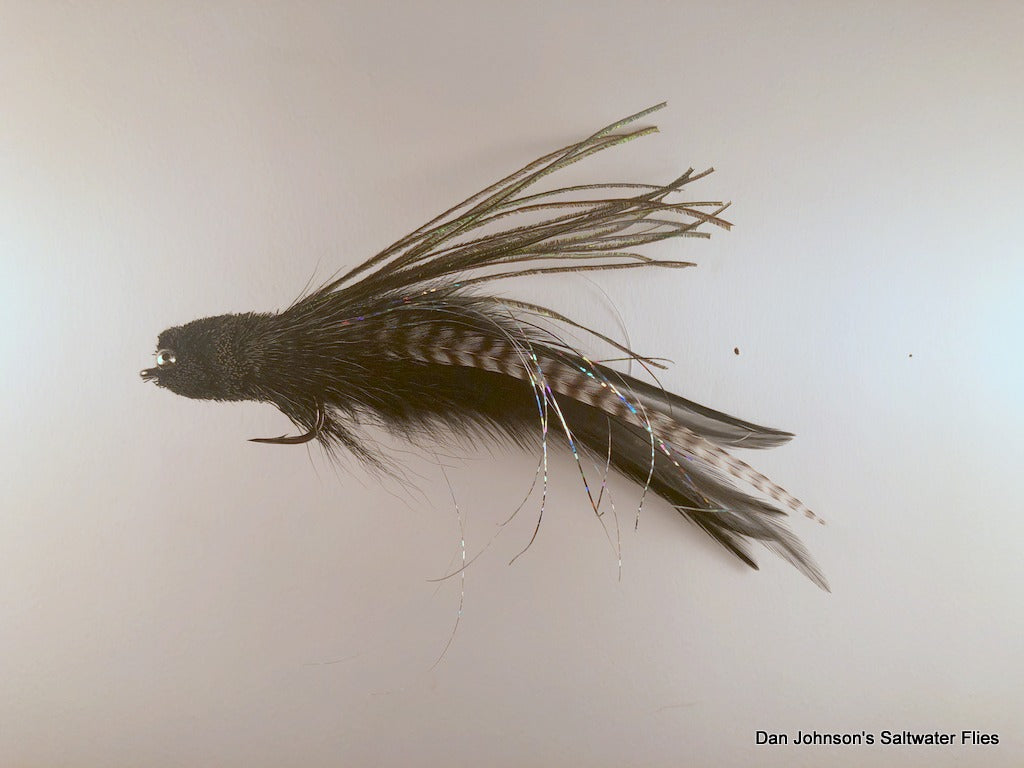 Andino Deceiver - Black Grizzly, Bead Chain, Hackle  IF157BC