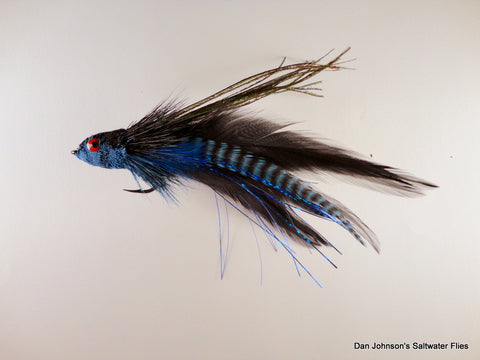 Andino Deceiver - Blue Grizzly Black, Hackle IF168GR