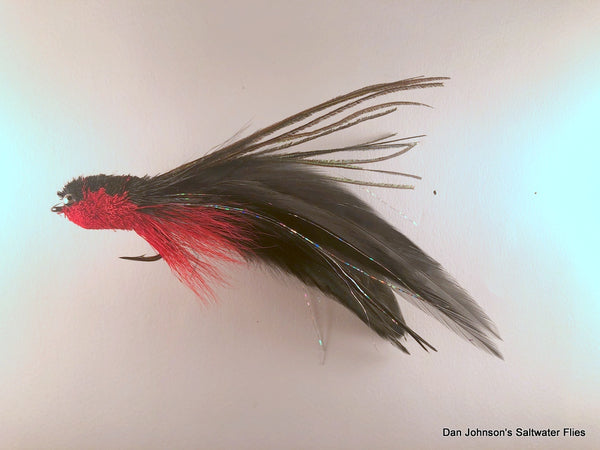 Andino Deceiver - Red Black, Bead Chain, Hackle  IF185BC