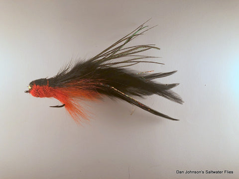 Andino Deceiver - Orange Black, Bead Chain, Hackle  IF186BC