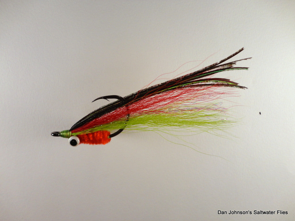 Tigerfish Clouser - Red Chartreuse Orange - IF199