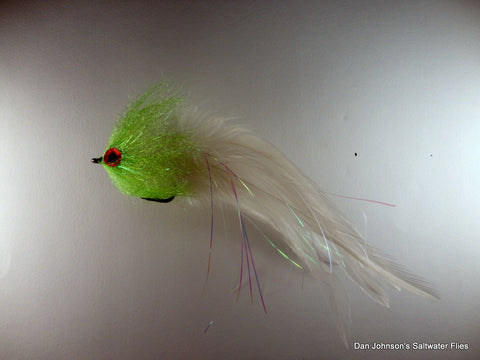 Brush Fly - Chartreuse White  - Hackle  IF207