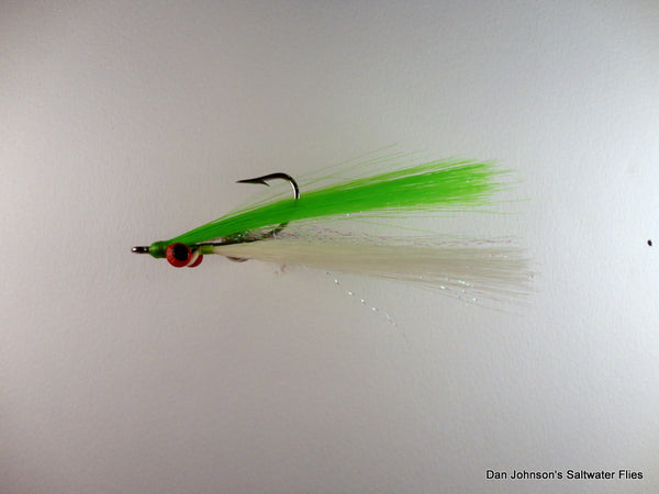 Clouser Minnow - Synthetic Chartreuse White  IN067SYN