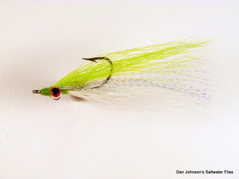 Clouser Minnow - Chartreuse White  IN067
