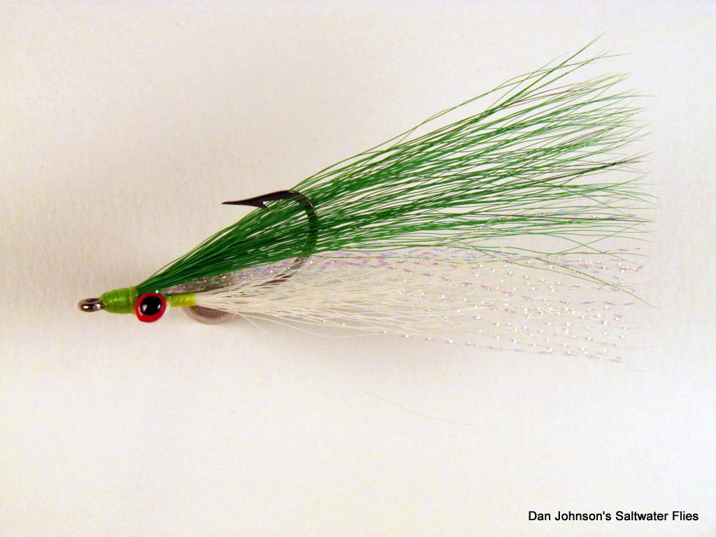 Clouser Minnow - Green White  IN082