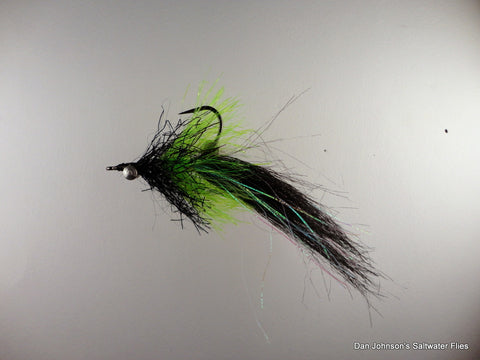 Willy the Pimp - Black Chartreuse Kyrstal Hackle - IN158