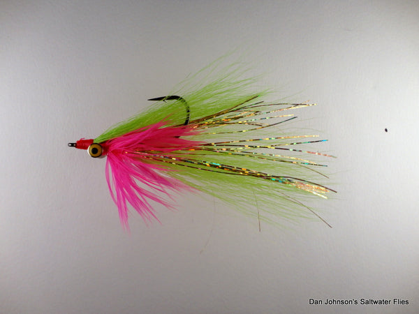 Bearded Clouser - Hot Pink Chartreuse IN164