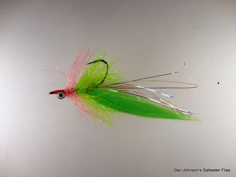 Willy the Pimp - Hot Pink Chartreuse Krystal Hackle IN176